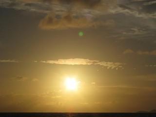 Wie gemalt: Sonnenuntergang auf Praslin / Seychellen