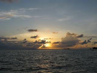 Sonnenuntergang auf Praslin / Seychellen Februar 2008