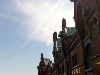 Fassadenansicht in der Hamburger Speicherstadt