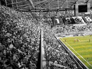 Fußball in der Hamburger Arena